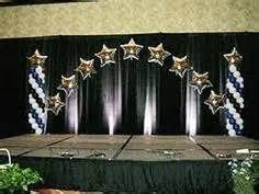 Image result for High school commencement stage decorations