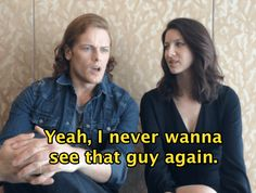 """12 Rounds Of Would You Rather With Sam Heughan And Caitriona Balfe Of """"Outlander"""""""