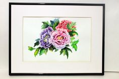 Flowers Art Print  Watercolor Painting  Watercolor Flowers flowers wall print Shabby chic decor garden themed decor Print Floral Poster (15.00 USD) by ElenTsArt
