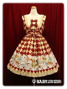 ALICE'S Marchin' Cookie Flavour Milky JSK or skirt in red/beige