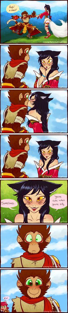 Ahri x Wukong.....Annie-Ew