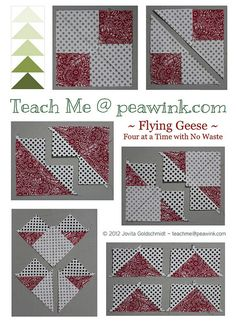 flying geese four at a time by Jovita's Patchwork Atelier, via Flickr