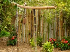 Bamboo Garden Ideas Backyards Home sweet home Garden Stakes, Garden Art, Garden Ideas, Garden Definition, Metal Planter Boxes, Bamboo Poles, Chicken And Shrimp Recipes, Square Foot Gardening, How To Grow Taller