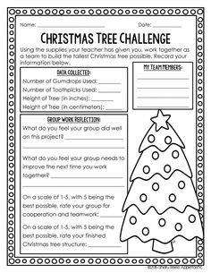 Christmas STEM Activity: Gumdrop Christmas Tree - Teaching with Jennifer Findley Classroom Fun, Classroom Activities, Classroom Checklist, Holiday Classrooms, Preschool Bulletin, Christmas Activities, Science Activities, Group Activities, Christmas Printables