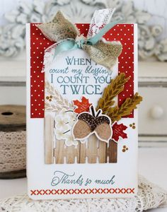 Counting Blessings Card by Melissa Phillips for Papertrey Ink (August 2016)