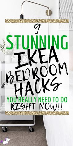 9 Stunning Ikea bedroom hacks You Need To Try Right Now | Ikea | Ikea hacks | Ikea DIY | DIY Projects for the home | Bedroom home Decor | Via: https://themummyfront.com #themummyfront #diyhomedecor #ikehacks #ikeahack #ikeabedroomhacks #smallbedroominspiration #bedroomgoals #homedecoronabudget Bedroom Hacks, Home Bedroom, Ikea Bedroom, Bedroom Decor, Bedrooms, Cheap Home Decor, Diy Home Decor, Decorating Small Spaces, Diy Storage
