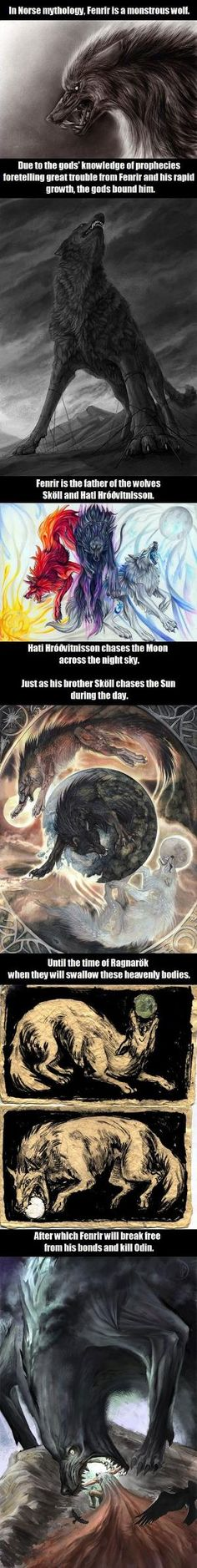 Wolves In Norse Mythology by jayne