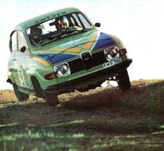 Per Eklund (Saab 96 V4) RAC - rallye de Grande Bretagne - sport-auto janvier 1976.