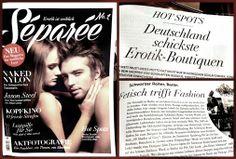 SEPAREE- denn Erotik ist weiblich....Heft No1- ab sofort auch bei uns käuflich zu erweben! Séparée ist das erste Hochglanz Erotik Magazin für die moderne Frau. Séparée geht auf die Bedürfnisse weiblicher Lust ein und ist dabei stilvoll