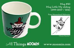 Moomin Mug - Little My sliding by Arabia Mug - Little My sliding Produced: / 2011 Illustrated by Tove Slotte and manufactured by Arabia. The original artwork can be found in Moominland Midwinter. Moomin Mugs, Tove Jansson, Cup Art, Museum Exhibition, Little My, Original Artwork, Art Projects, Tea Cups, History