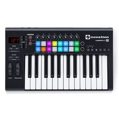Launchkey 25 is Novation's easy-to-use 25 key MIDI keyboard controller. It's pretty much the quickest and easiest way to produce and perform electronic music, especially in Ableton Live – because they designed it specifically for the purpose. Launchpad Mk2, Novation Launchpad, Midi Keyboard, Music Software, Studio Headphones, M Audio, Ableton Live, Studio Gear, You Sound