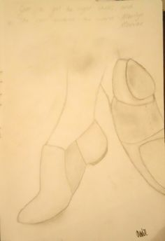 Give a girl the right shoes, and she can conquer the world - Marilyn Munroe Pencil Sketch Piece