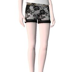 Black Lace Shorts by ldanielb - The Exchange - Community - The Sims 3