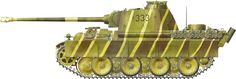 Berlin, April 1945 Muncheberg Panzerkampfwagen V Panther Sd.Kfz 171 camouflage…