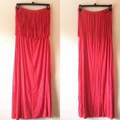 Fringe Maxi Dress Super cute maxi dress. Perfect for the warm weather coming! Purchased at Rue21, Gently worn. Rue 21 Dresses Maxi