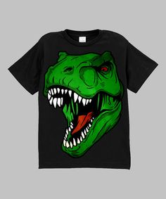 Another great find on #zulily! Black T-Rex Tee - Infant, Toddler & Boys by Micro Me #zulilyfinds
