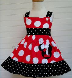 Custom Boutique Clothing Minnie Mouse Jumbo red number by amacim
