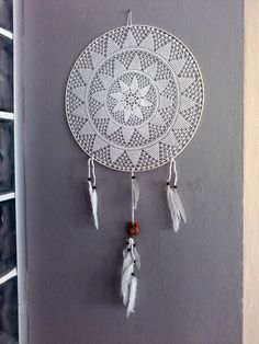 White dream cather Beige lace Dreamcatcher traditional by seragun
