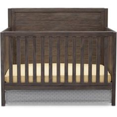 $229 Delta Children Cambridge 4-in-1 Convertible Crib, Rustic Grey