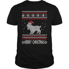 If you are a lover for Cocker spaniel or your friend. This will be a great gift for you or your friend: Ugly Christmas Cocker Spaniel Tee Shirts T-Shirts