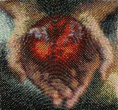 Apple (2001) by Amy Clarke Moore - an amazing bead embroiderer !