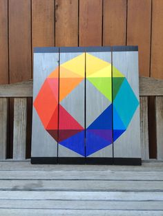 Eye of the Storm barn quilt. I like it, but no vertical black lines