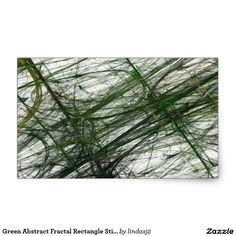 Green Abstract Fractal Rectangle Sticker
