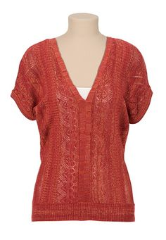 V-Neck Spacedye Pullover Sweater (original price, $34) available at #Maurices
