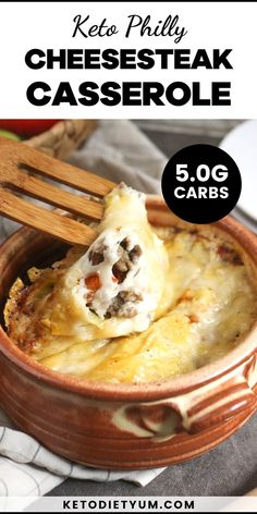 Our Keto Philly Cheesesteak Casserole is an easy low-carb dinner recipe full of yummy ingredients! Ground beef, peppers, onions and lots of cheese make this a hearty casserole that is ready in just 40 minutes. Low Carb Dinner Recipes, Keto Recipes, Snack Recipes, Keto Diet Breakfast, Breakfast Recipes, Keto Diet Review, Ketogenic Diet For Beginners, Keto Snacks, Cheesesteak