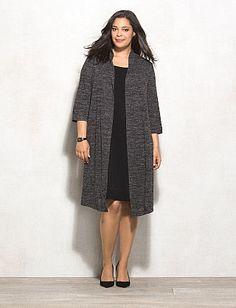 Plus Size Marled Jacket Dress