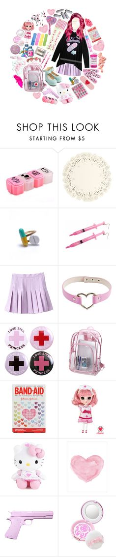 """YamiKawaii"" by sw-13 ❤ liked on Polyvore featuring Hello Kitty, CO, Zone, Isaac Mizrahi and L'ÉCLAIREUR"