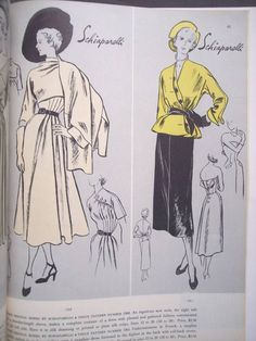 Vogue 1061 and 1068 by Schiaparelli Vintage Dress Patterns, Vintage Dresses, Diy Fashion, Vintage Fashion, 1940s Woman, Retro Pattern, Vogue Patterns, Retro Vintage, Vintage Style