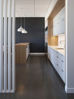 Venture Capital Firm – San Francisco Offices - All white kitchen