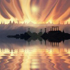 original ,gif,painting,art,digital art by tony danis Greece Hellas World 1, Original Music, 3d Animation, Animated Gif, Greece, Digital Art, Backgrounds, Magic, Sunset