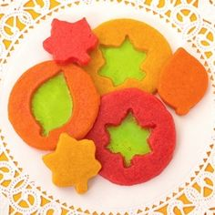 Stained Glass Leaf Cookies