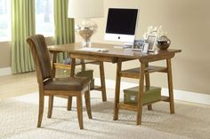 Parkglen Medium Oak Desk And Chair 4337PD