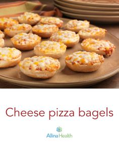 Cheese pizza bagels: Cheese is a good source of calcium and protein, which help fuel a growing body. http://www.allinahealth.org/Health-Conditions-and-Treatments/Eat-healthy/Recipes/Appetizers-and-snacks/Cheese-pizza-bagels/