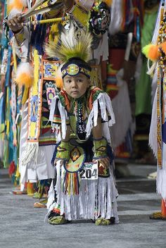 Young Native American at a National Pow-wow -- Photo by Cynthia Frankenburg