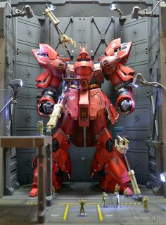 GUNDAM GUY: MG 1/100 Sazabi ver.Ka + H-Hanger - Diorama Build