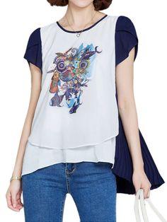 Flower girl t shirts uk loose women printing patchwork high low chiffon t-shirt #adidas #t #shirt #womens #grey #grey #t #shirts #womens #squirtle #tshirt #girl #name #t #shirt #powerpuff #girl