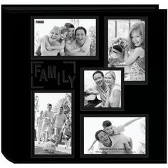"""Pioneer Collage Frame Embossed """"Family"""" Sewn Leatherette ..."""