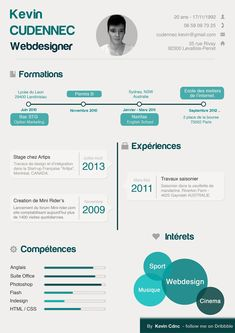Freebie: Infographic Resume PSD Template