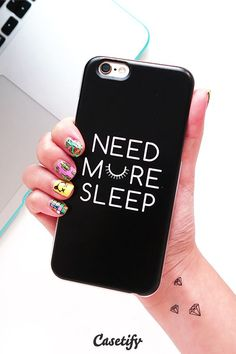 Need more sleep. Click through to see more iPhone 6 case designs by Filip Baotić >>> https://www.casetify.com/filippey/collection | /casetify/