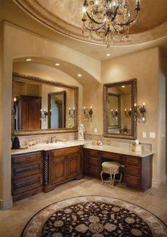 vanity sconce lighting curved sheetrock over sink