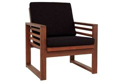 Buy 2 for opposite the sofa. Would like great with the matching coffee table: Denver Chair Kwila/Fruitpunch Black