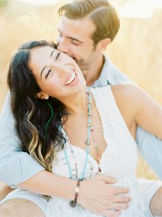 All smiles! http://www.stylemepretty.com/destination-weddings/2015/09/09/romantic-spanish-sunset-engagement-session-in-ibiza/ | Photography: Ana Lui - http://www.analuiphotography.com/