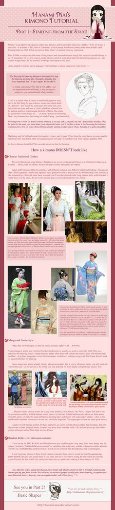 Kimono Tutorial - Part 01 by Hanami-Mai.deviantart.com on @DeviantArt