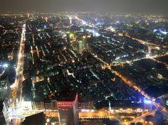 Taipei 101 in Taipei, Taiwan, rises 1,671 feet above the city.