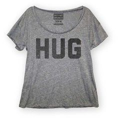 Hug Tee Women's Gray, $12, now featured on Fab.