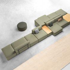 Modular Furniture, Modular Sofa, Sofa Furniture, Furniture Design, Furniture Layout, Sofa Design, Interior Design, Sofa Layout, Hotel Room Design